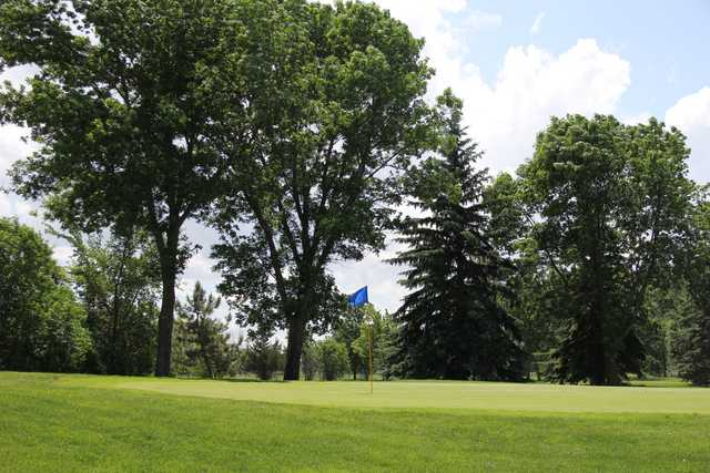 A view of a green at Granite Run Golf Course