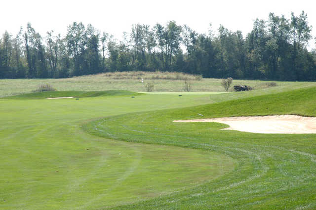 A view with bunker on the right at Cherry Blossom Golf Course & Country Club
