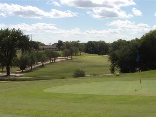 Looking back from a green at John Pitman Golf Club