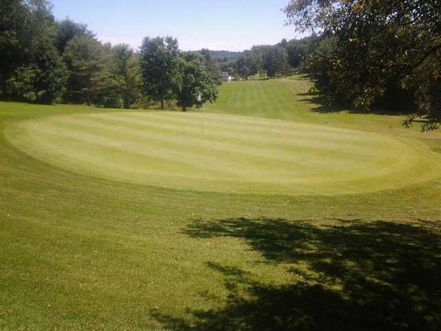 A view of hole #1 at Pine Brook Golf Club