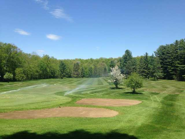 A fresh spring day view from Pine Brook Golf Club
