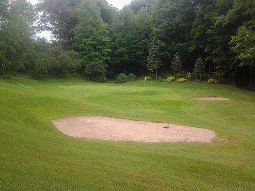 A view of the 7th hole at Pine Brook Golf Club