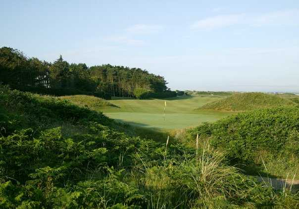 A view of hole #4 at Dunluce from Royal Portrush Golf Club