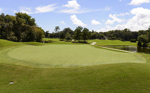 A sunny day view from Dye's Valley Course at TPC Sawgrass
