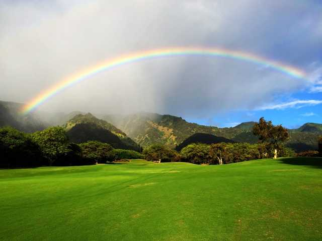 A view of hole #7 at Kahili Golf Course