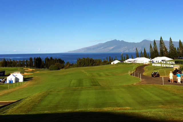 A view from a tee at Kahili Golf Course