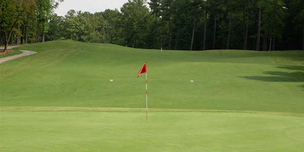Looking back from a green at Ashton Hills Golf Club