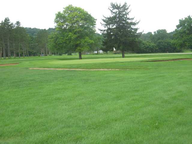 A view of a green at Forest E. Everhart Memorial Golf Course