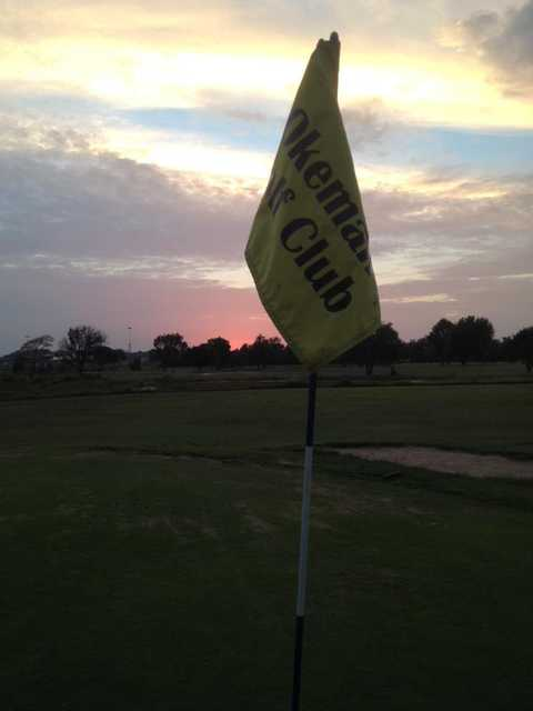 A view from a green at Okemah Golf Course