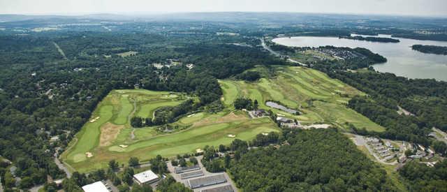 Aerial view of the High Bridge Hills Golf Club