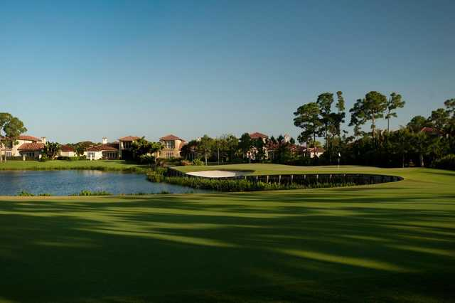 A view of hole #3 at Trump National Golf Club.