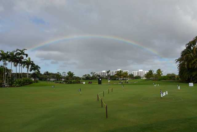 A view of the practice area at Boca West Country Club