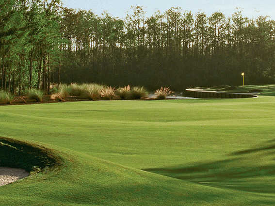 A view of hole #11 at Dye Preserve Golf Club