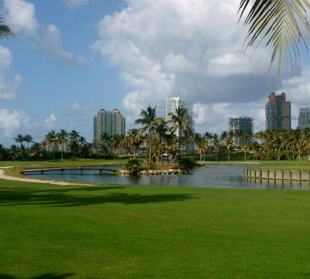A view of hole #7 at Fisher Island Club