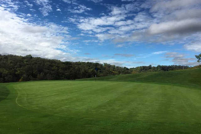 A view of green #14 at Totteridge Golf Course