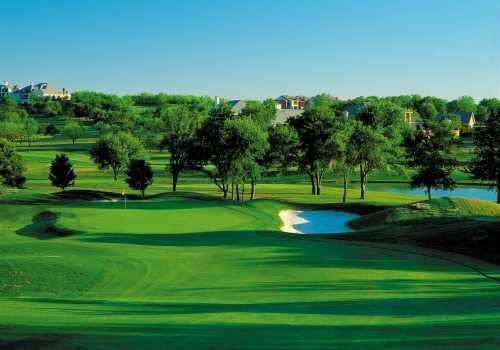 A view of the 8th hole at Cottonwood Valley from The Sports Club at Four Seasons Resort