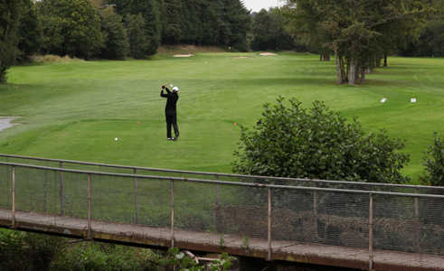A view of tee #16 at Muskerry Golf Club
