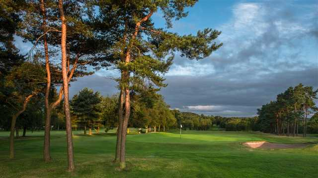 A view of a hole at Sand Moor Golf Club