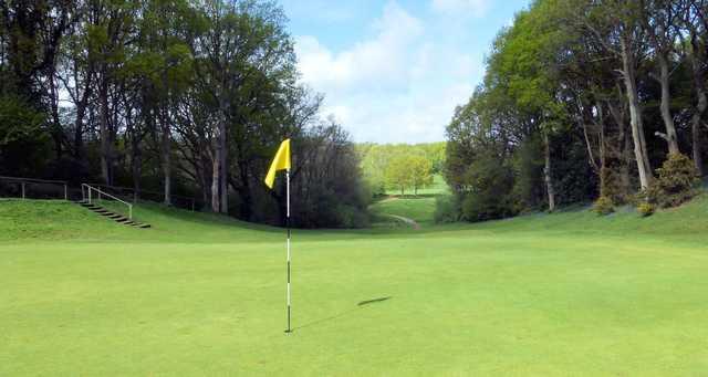 A view of a hole at Canterbury Golf Club