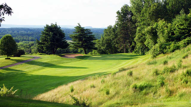A view of a fairway and green at Tower Ridge Country Club