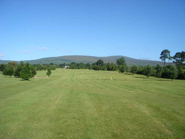 A view of a fairway at Djouce Golf Club