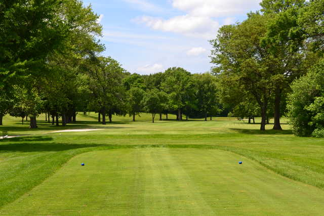 A view from a tee at Johnson Park Golf Course