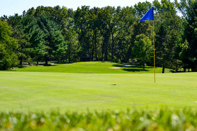A view of a hole at Johnson Park Golf Course
