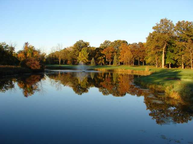 A fall day view from Cascades Golf Course