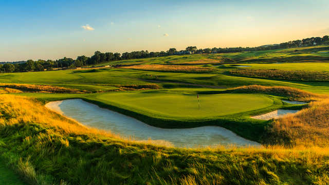 View of the par-4 5th hole from the Oakmont Country Club