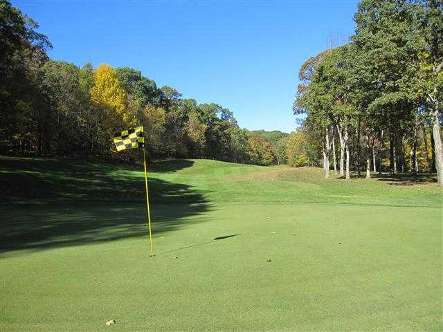 A view of hole #16 at Ridgefield Golf Course