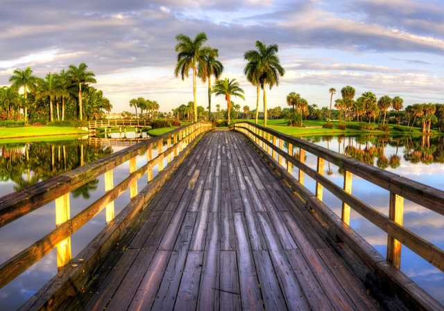 A view from a bridge at Boca West Country Club