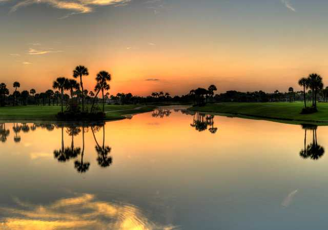 A sunset view from Boca West Country Club