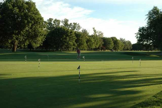 A view of the practice area at Bing Maloney Golf Course