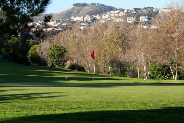 A view of a green at Shorecliffs Golf Club