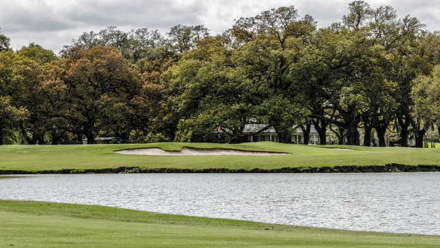 View of the 9th with the clubhouse in background at Audubon Park Golf Course