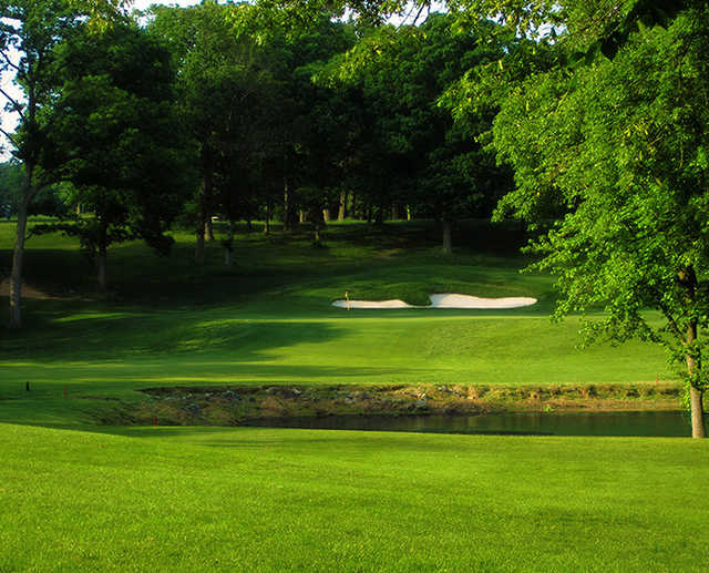 A view of hole #1 at University of Maryland Golf Course