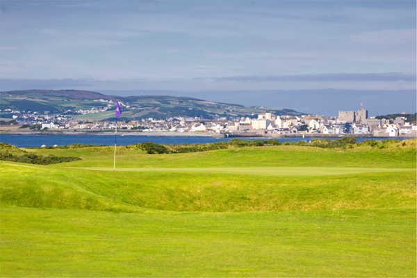 A view of the 4th hole at Castletown Golf Club
