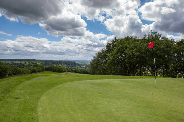 A view of a hole at Chevin Golf Club