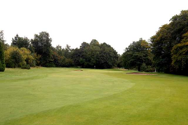 View of the 1st green at Davyhulme Park Golf Club