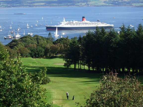 A view from Greenock Golf Club