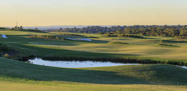 A sunny day view from The Ridge Golf Course & Driving Range