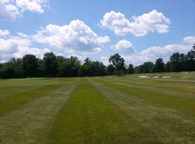A view from a fairway at Country Club of Farmington