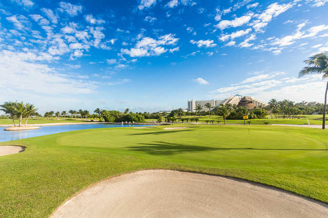 View from the 18th green at Iberostar Cancun Golf Club