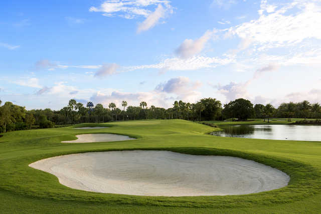 View of the 14th green from the Silver Fox Course at Trump National Doral Miami