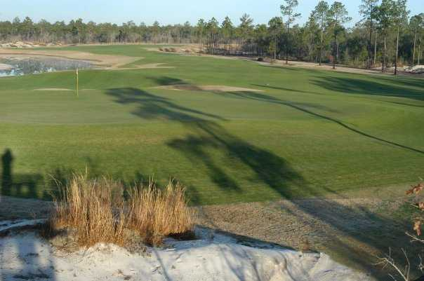 A view of the 8th hole at Windswept Dunes Golf Course