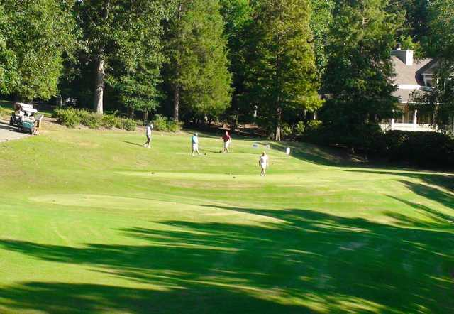 A view of a tee at Golden Hills Country Club