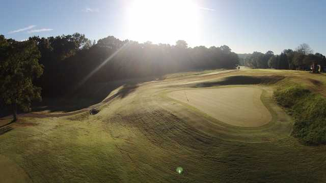 A splendid sunny day view of a green at Golden Hills Country Club