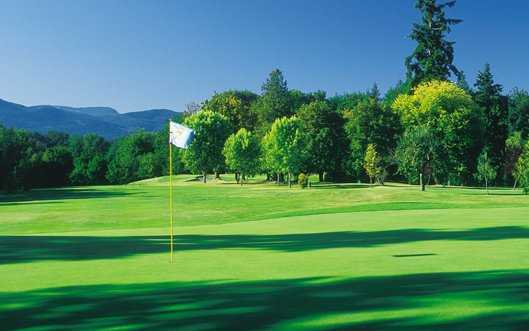 A view of  a green at Cowichan Golf and Country Club.