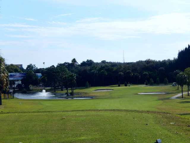 A view from a tee at Tarpon Springs Golf Course