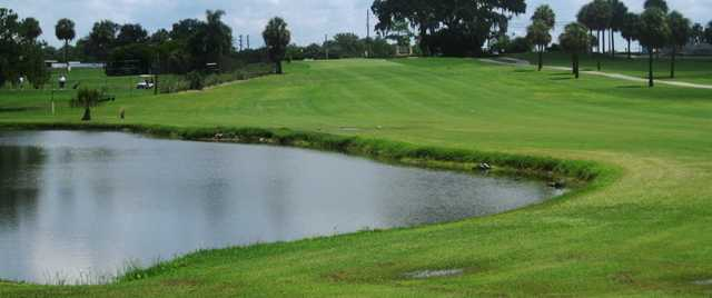A view of a fairway at Tarpon Springs Golf Course
